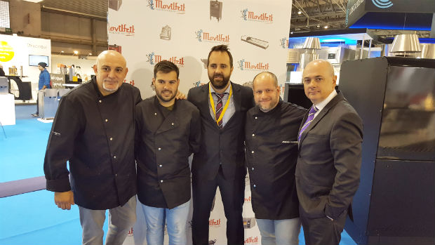 equipo-movilfrit-hostelco2016-miquel-fernandez-chefs-javier-ricote